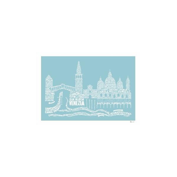 Plakát Venezia Blue&White, 50x70 cm