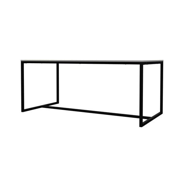 Biały stół do jadalni z metalową konstrukcją w czarnym kolorze Tenzo Lipp