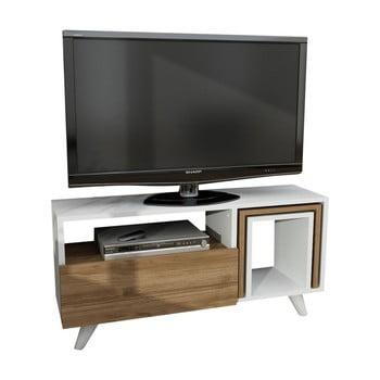 Masă TV cu aspect de lemn de nuc Novellis de la Furny Home