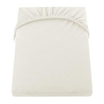 Cearșaf de pat cu elastic DecoKing Nephrite, 160–180 cm, crem deschis imagine