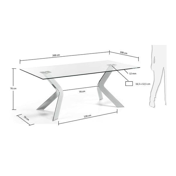 Jídelní stůl s kovovým podnožím La Forma Virginia