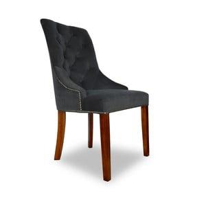Tmavě šedá jídelní židle Massive Home Marta