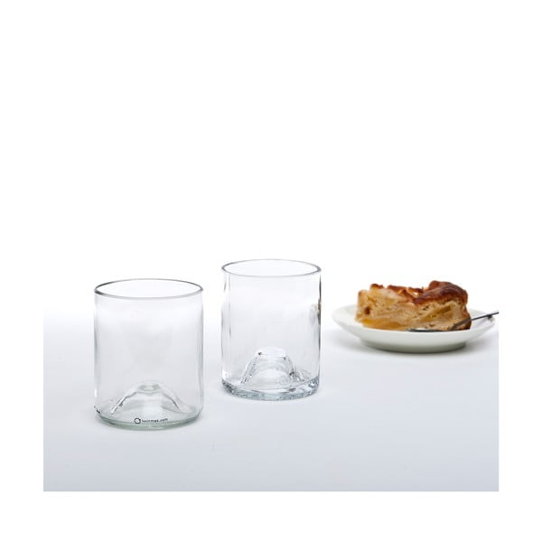 Set dvou sklenic, transparentní
