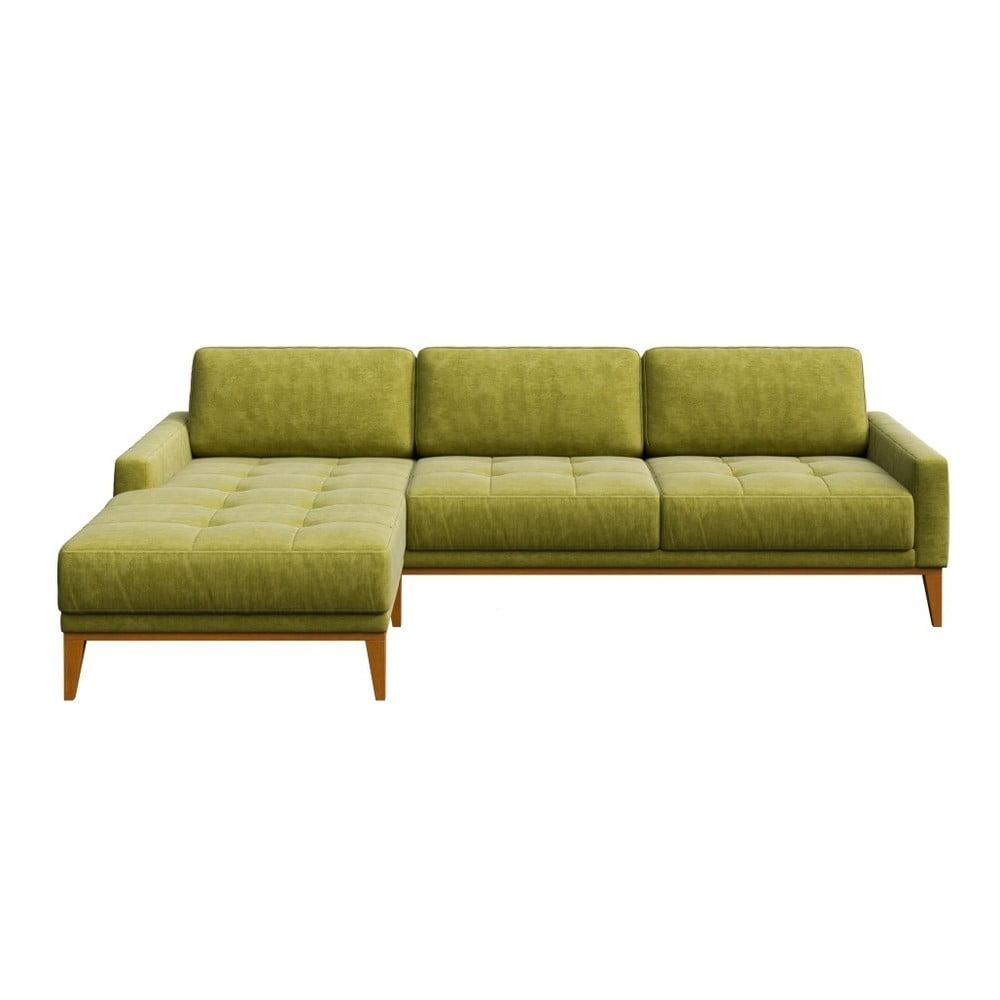 Zelená pohovka s lenoškou na levé straně MESONICA Musso Tufted