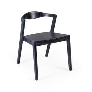Černá jídelní židle ze dřeva Sungkai Moycor Arco