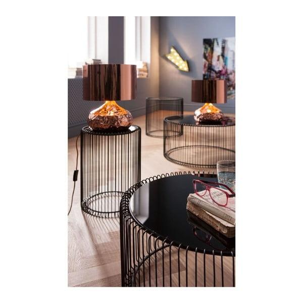 Sada 2 černých odkládacích stolků Kare Design Wire Big