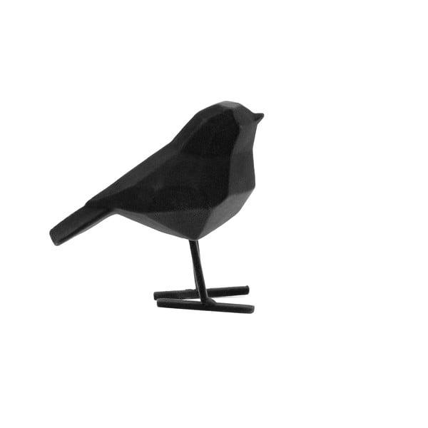 Čierna dekoratívna soška PT LIVING Bird, výška 17 cm