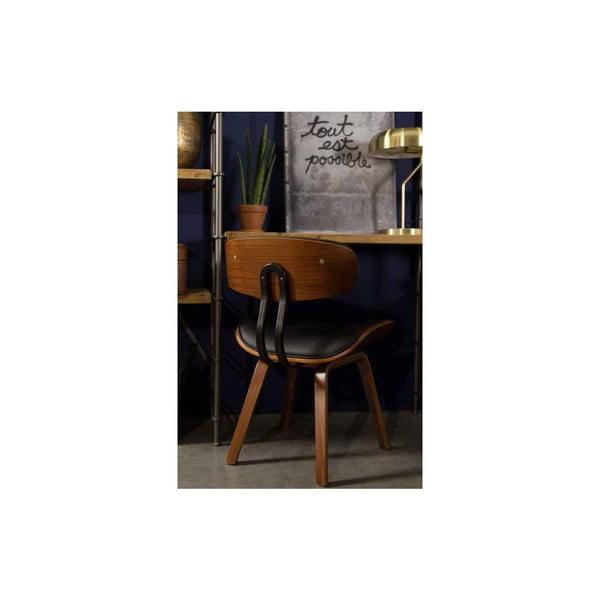 Černá židle Dutchbone Blackwood
