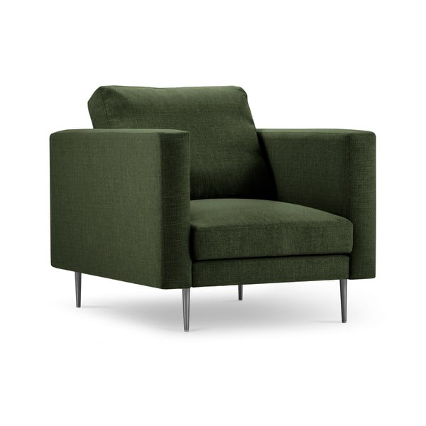Lahvově zelené křeslo Milo Casa Piero