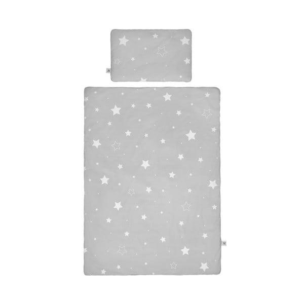 Set păturică matlasată din bumbac și pernă pentru copii BELLAMY Shining Star, 100 x 135 cm