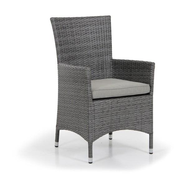Sada 4 šedých zahradních židlí Brafab Ninja