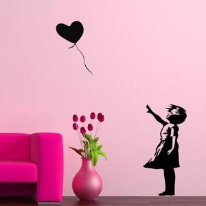 Vinylová samolepka na stěnu Láska v balónku