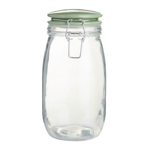 Recipient sticlă alimente, capac verde Premier Housewares, 1.5l