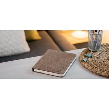Veioză de birou cu LED Ginko Booklight Large, formă de carte, maro închis