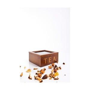 Dřevěná krabička na čaje Tea, 4 přihrádky