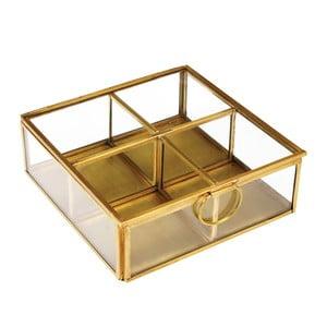 Zlatý box se 4 přihrádkami Rex London Flavio