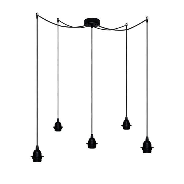 Pět závěsných kabelů Uno+, černá/černá