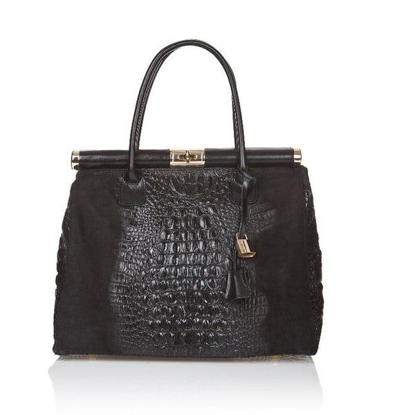 Černá kožená kabelka Markese Mara