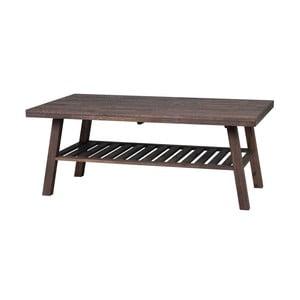 Tmavě hnědý dubový konferenční stolek Folke  Heimdal