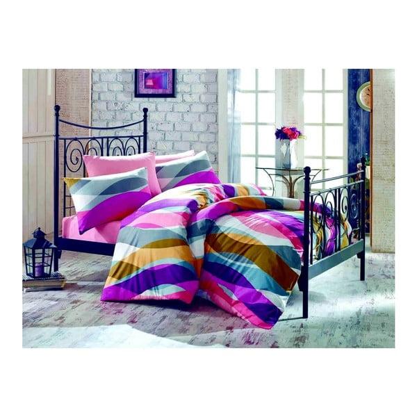 Lenjerie de pat cu cearşaf Magenta, 200 x 220 cm, violet