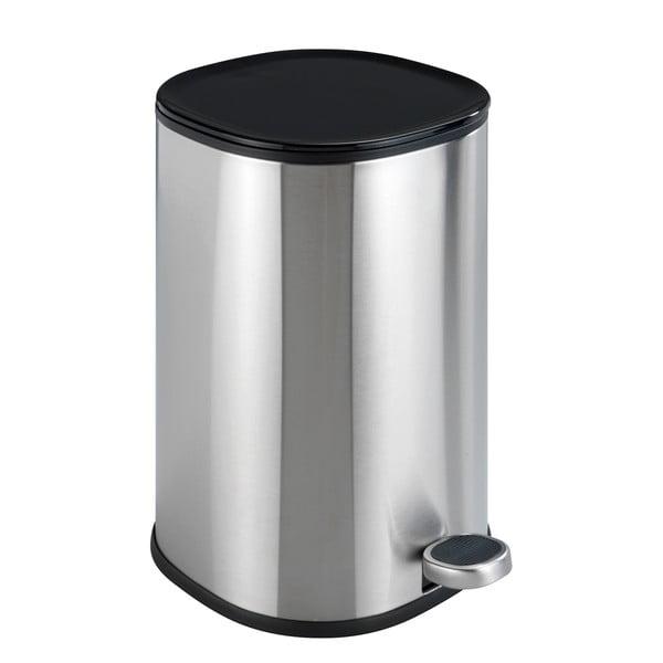 Coș de gunoi cu pedală, oțel inoxidabil mat Wenko Nant, 5l