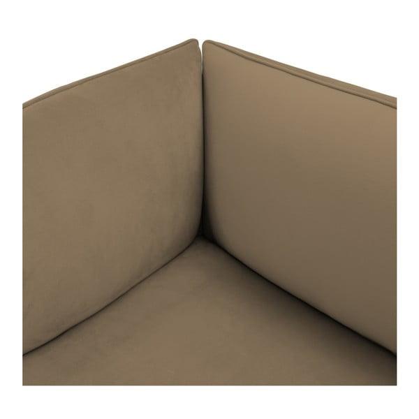 Hnědošedá třímístná modulová pohovka s podnožkou Vivonita Velvet Cube