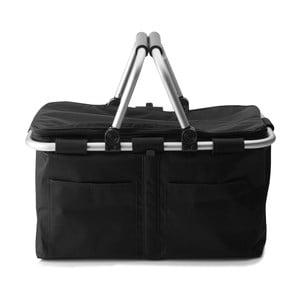 Nákupní košík na zip s termovrstvou, černý