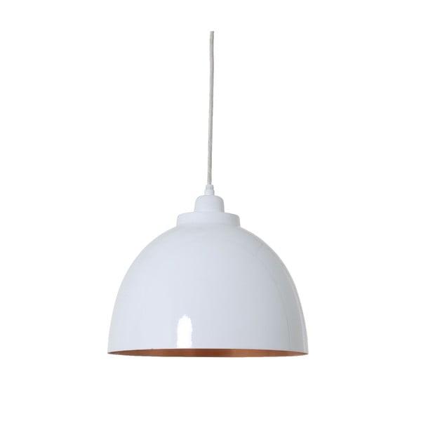 Závěsné světlo Kylie White Copper, 30 cm