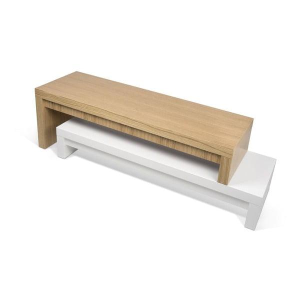 Bílý variabilní stolek TemaHome Cliff Oak