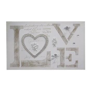 Tablou pe ramă de lemn Mauro Ferretti Love90x60cm