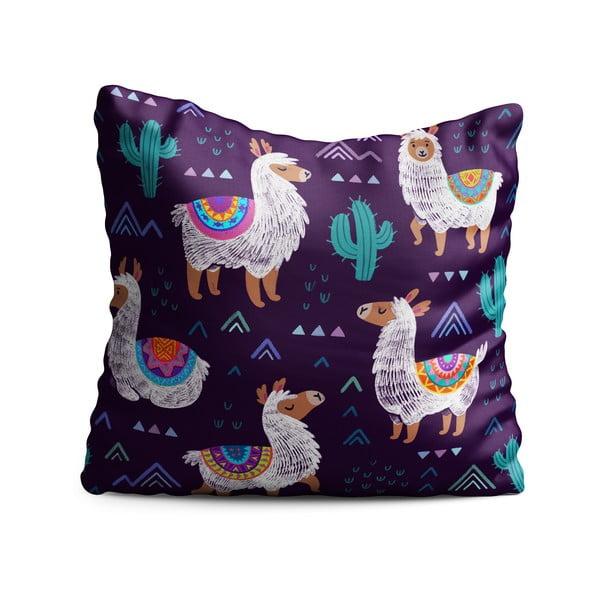 Dětský polštář OYO Kids Llama Adventures Multi, 40 x 40 cm