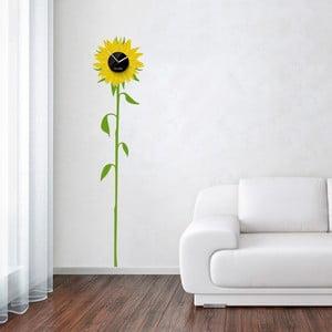 Hodiny se samolepkou Sunflower, žlutá