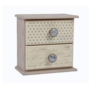 Dřevěný šuplík Vintage