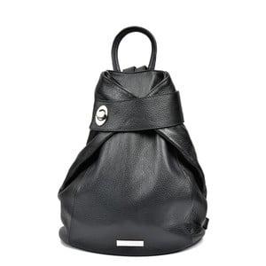 Černý dámský kožený batoh AnnaLuchini Lismo