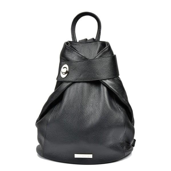 Čierny dámsky kožený batoh Anna Luchini Lismo