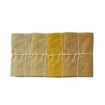 Set 4 șervețele textile din amestec de in Linen Couture Beige, 43 x 43 cm imagine