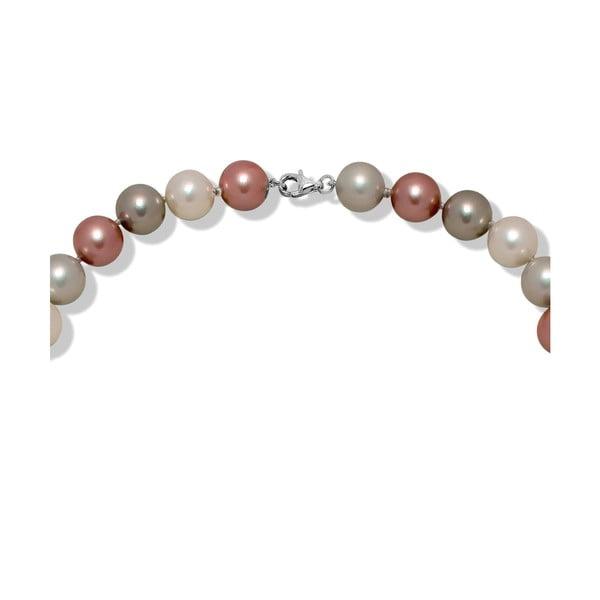 Růžovošedý perlový náhrdelník Nova Pearls Copenhagen Mara de Vida Only Me, 60 cm