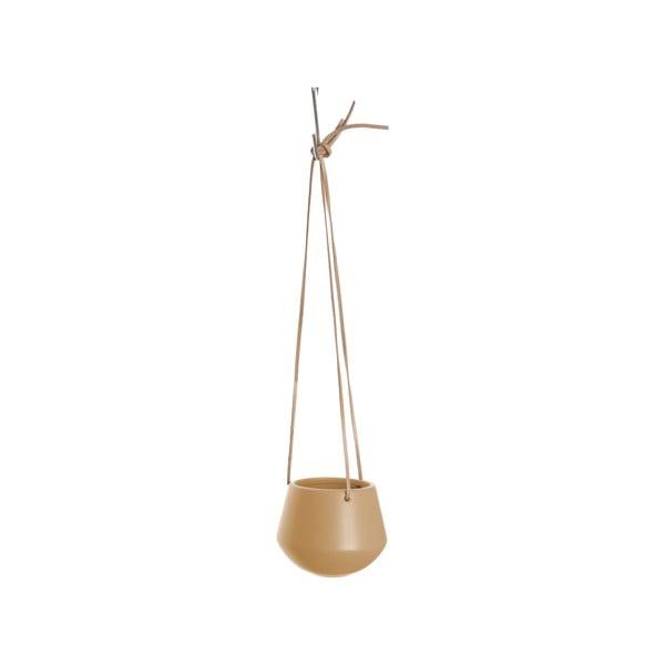 Pieskovohnedý závesný kvetináč PT LIVING skittle, ø 12,2 cm