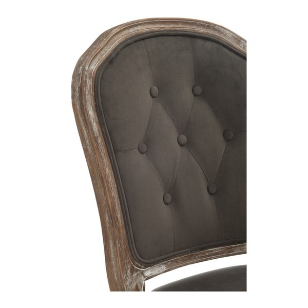 Šedohnědá dubová židle Louisa