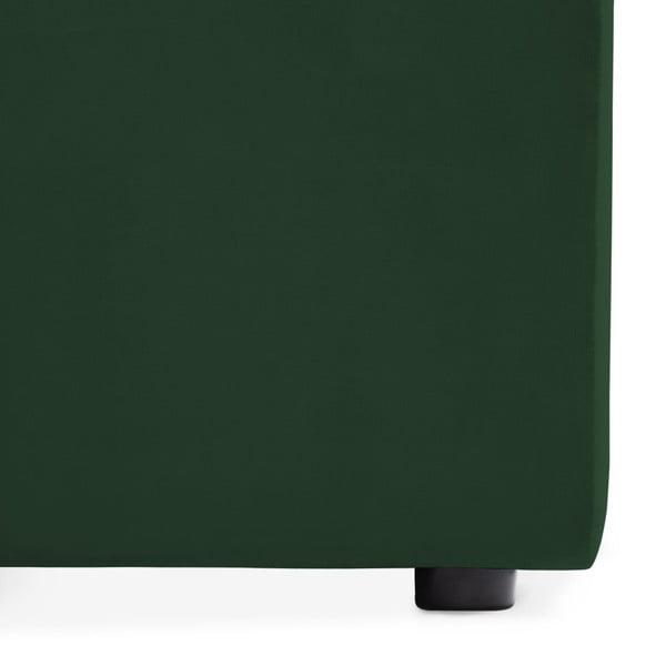 Emeraldově zelený prostřední modul pohovky Vivonita Velvet Cube