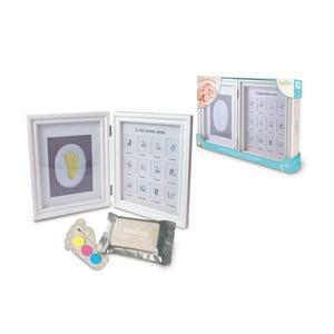 Rámeček na otisk dětské ručičky s 12 fotorámečky a barvami Tnet Clay Frame