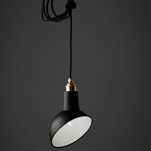 Závěsné světlo Miniature Angled Cloche Black