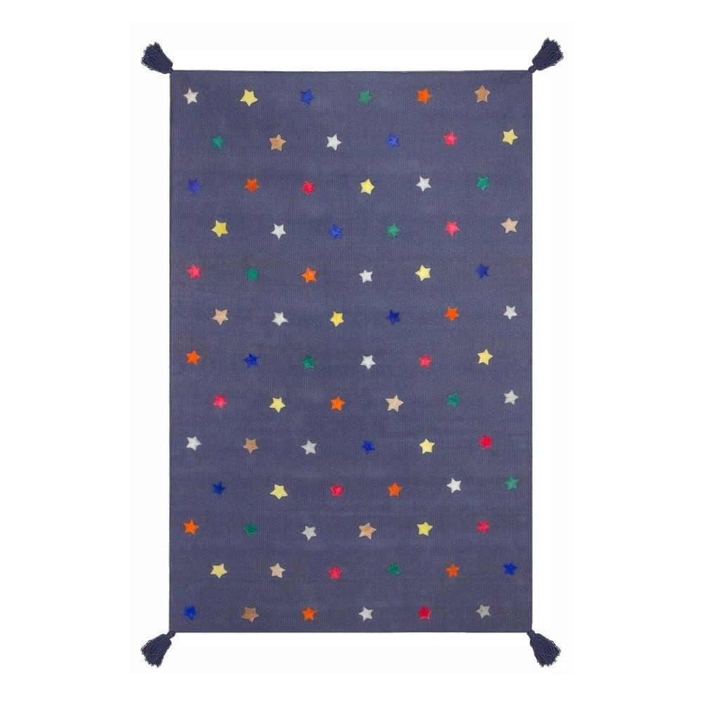 Modrý koberec Art For Kids Stars, 110 x 160 cm