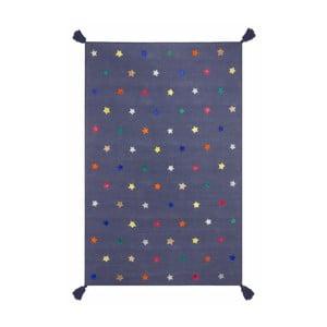 Ručně tkaný modrý koberec Art For Kids Stars, 110x160cm
