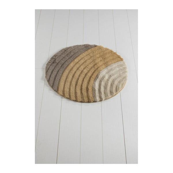 Hnědá koupelnová předložka Well Cap, ⌀ 90 cm