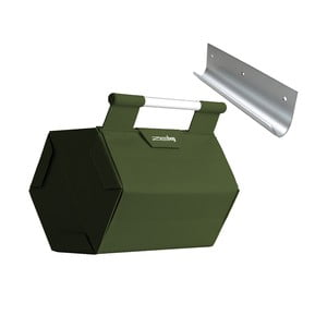 ZEbag pro 6 lahví s držákem na stěnu, tmavě zelený