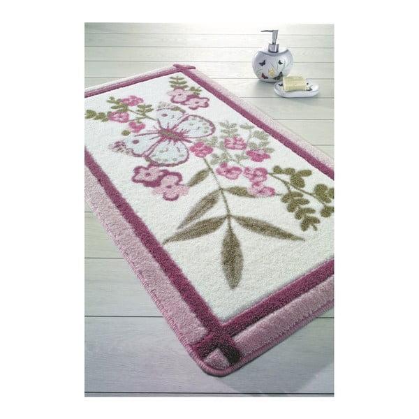 Růžová předložka do koupelny May, 57x100cm