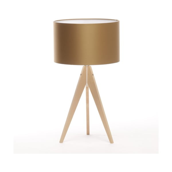 Stolní lampa Artist Golden/Natural Birch, 65 cm
