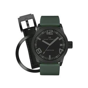 Unisex hodinky Marc Coblen s páskem a kroužkem navíc P41