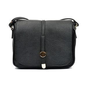 Černá kožená kabelka Renata Corsi Reina dde7524e6e9